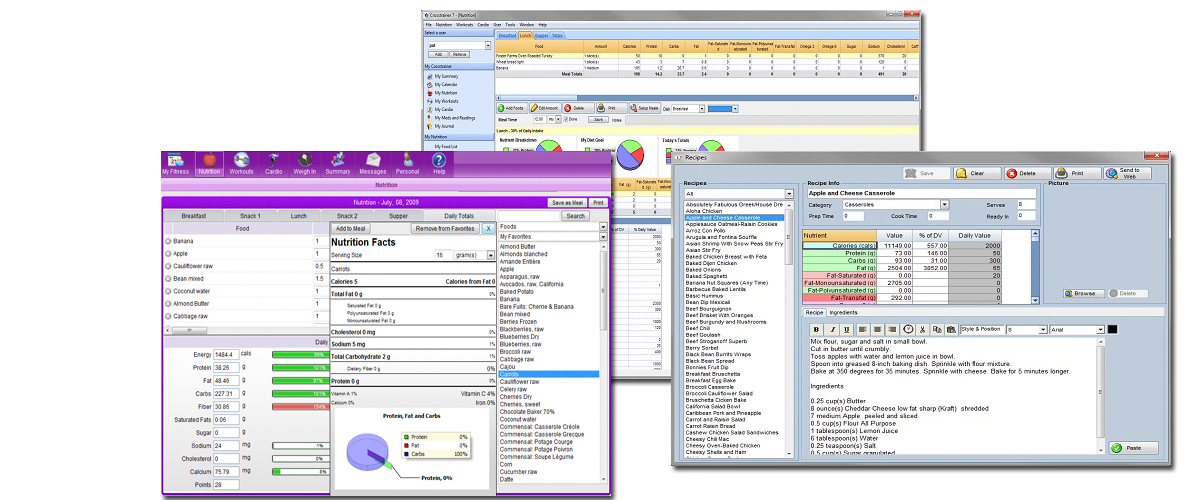 nutrition software view
