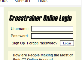 crosstrainer online login form